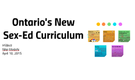 Ontario's New Sex-Ed Curriculum