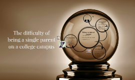 The difficulty of being a single parent on a college campus