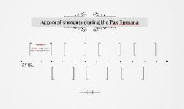 Accomplishments during the Paxa Romana