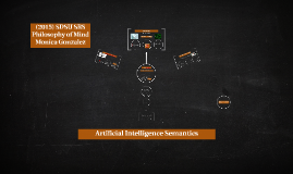 Artificial Intelligence Semantics