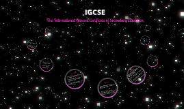 IGCSE 2017