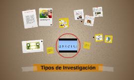 Copy of Tipos de investigación