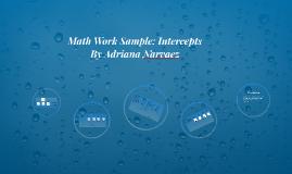 4 concepts- Math Work Sample