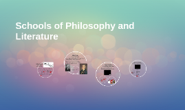 Schools of Philosophy and Literature