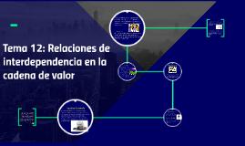 Tema 12: Relaciones de interdependencia en la cadena de valo