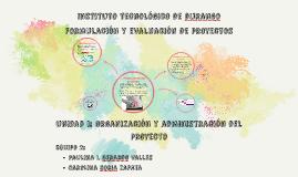 unidad i: Organización y administración del proyecto