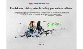 Comisiones mixtas, voluntariado y grupos interactivos