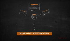 Copy of MANEJO DE LA INFORMACIÓN