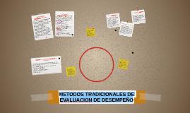 METODOS TRADICIONALES DE EVALUACION DE DESEMPEÑO