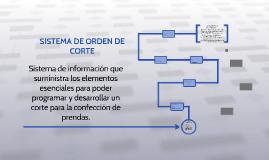 SISTEMA DE ORDEN DE CORTE