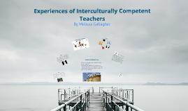 Being an Interculturally Competent Teacher