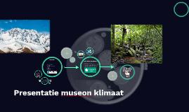 Presentatie museon klimaat