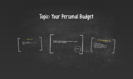 Topic: Your Personal Budget