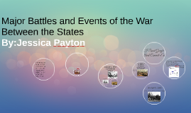 Major Battles and Events of the War Between the States
