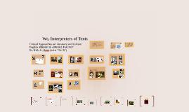 We, Interpreters of Texts