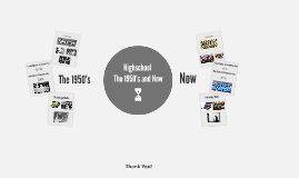 Highschool in the 1950's vs now