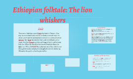 Ethiopian folktale: The lion whiskers