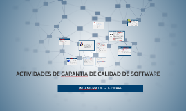 ACTIVIDAES DE GARANTIA DE CALIDAD DE SOFTWARE