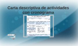 Carta descriptiva de actividades con cronograma