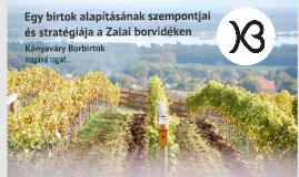 Egy birtok alapításának szempontjai és stratégiája a Zalai borvidéken