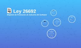 Ley 26692