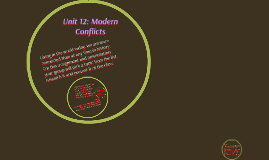 Unit 12: Modern Conflicts