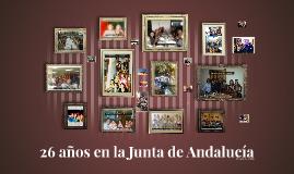 26 años en la Junta de Andalucía