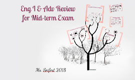 Copy of English I & Adv Review for Mid-Term Exam 2016