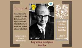 Imre Lakatos, PIC Javier Lozano