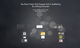 Top-Down Webs: Multi-Purpose Tool for Scaffolding ELL Writing