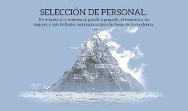 SELECCIÓN DE PERSONAL.