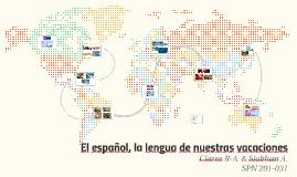Copy of El español, la lengua de nuestras vacaciones
