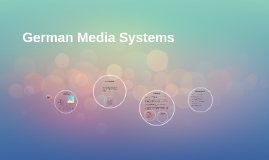 German Media Systems