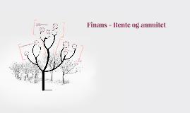 Finans - Rente og annuitet