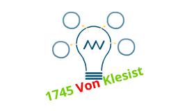 1745 Van Kleist- Leyden Jar
