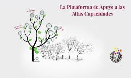 Copy of Qué es la Plataforma de Apoyo a las AACC?