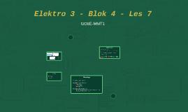 Elektro 3 - Blok 4 - Les 7