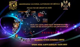 Copy of ANÁLISIS CEFALOMÉTRICO TRIDIMENSIONAL; AUXILIAR DE DIAGNÓSTI
