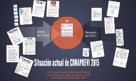 Copy of Situación actual de CONAPREVI 2015