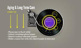 COUN 732 Aging & Long Term Care