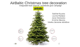 AirBaltic Christmas decoration