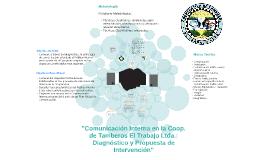 """""""Comunicación Interna en la Coop. de Tamberos El Trabajo Ltd"""