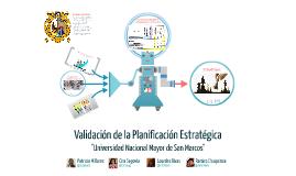 Copy of Copy of Validación de la Planificación Estratégica