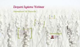 Webinar - Accessions for Records (2013) [with audio]