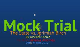 Kiersten's Mock Trial