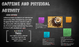 Caffeine And Physical Activity