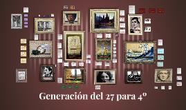 Generación del 27 para 4º