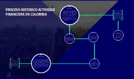 PROCESO HISTORICO ACTIVIDAD FINANCIERA EN COLOMBIA