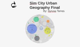 Sim City Urban Geography Final