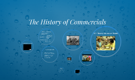 The History of Commercials